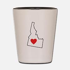 I Love Idaho Shot Glass