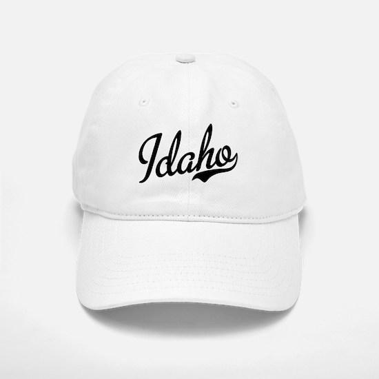 Idaho Script Black Baseball Baseball Cap