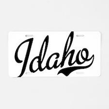 Idaho Script Black Aluminum License Plate