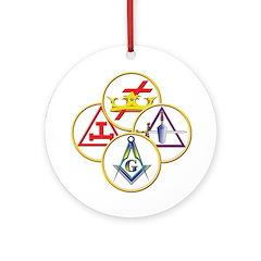 Masonic York Rite Circles Ornament (Round)