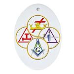 Masonic York Rite Circles Oval Ornament