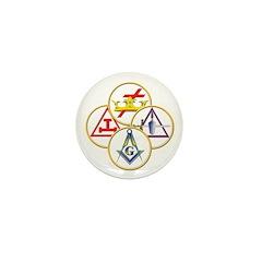 Masonic York Rite Circles Mini Button