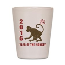 2016 Year of The Monkey Shot Glass