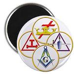 Masonic York Rite Circles Magnet