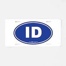 Idaho ID Euro Oval Aluminum License Plate
