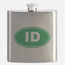 Idaho ID Euro Oval Flask