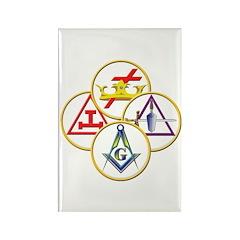 Masonic York Rite Circles Rectangle Magnet (100 pa