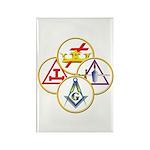 Masonic York Rite Circles Rectangle Magnet (10 pac
