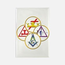 Masonic York Rite Circles Rectangle Magnet