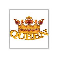 "Cute Crown Square Sticker 3"" x 3"""