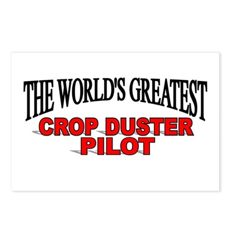 """""""The World's Greatest Crop Duster Pilot"""" Postcards"""
