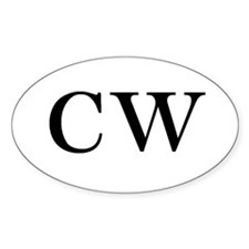 Christian Witch Oval Decal