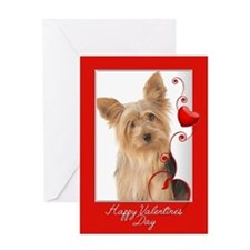 Love You More! Yorkie Valentine Greeting Cards