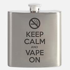Keep Calm and Vape On Flask