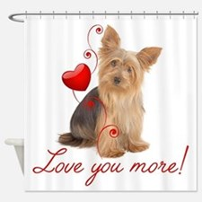 Cute Pet valentines Shower Curtain