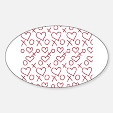 xoxo Heart Red Decal