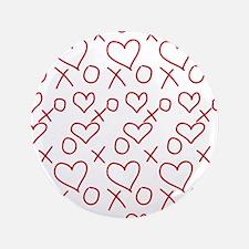 xoxo Heart Red Button