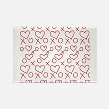xoxo Heart Red Magnets