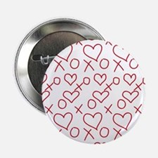 """xoxo Heart Red 2.25"""" Button (100 pack)"""