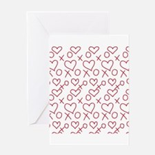 xoxo Heart Red Greeting Cards