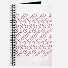 xoxo Heart Red Journal