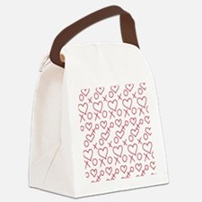 xoxo Heart Red Canvas Lunch Bag