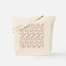 xoxo Heart Red Tote Bag