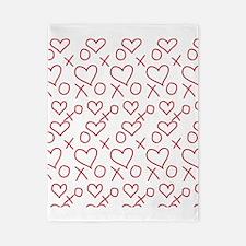 xoxo Heart Red Twin Duvet