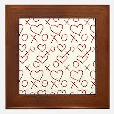 xoxo Heart Red Framed Tile