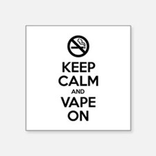 Keep Calm and Vape On Sticker