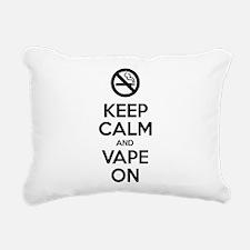 Keep Calm and Vape On Rectangular Canvas Pillow