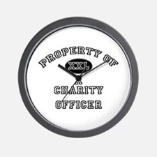 Property of a Charity Officer Wall Clock
