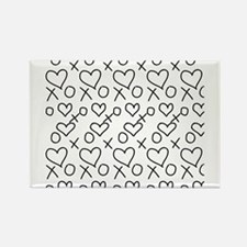 xoxo Heart Black Magnets