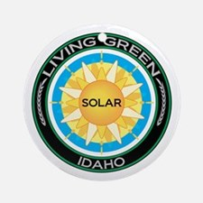 Living Green Idaho Solar Energy Ornament (Round)