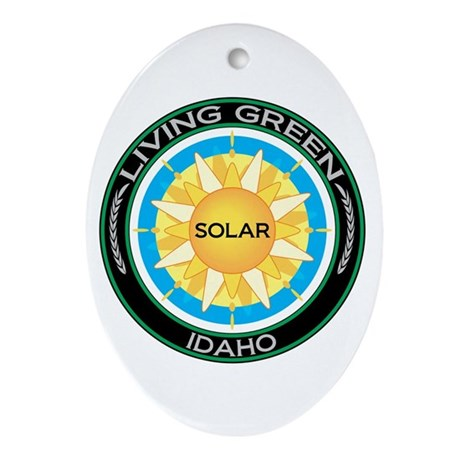 Living Green Idaho Solar Energy Oval Ornament