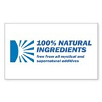 100% Natural Rectangle Sticker