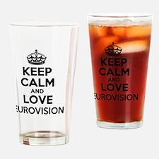 Unique Eurovision Drinking Glass