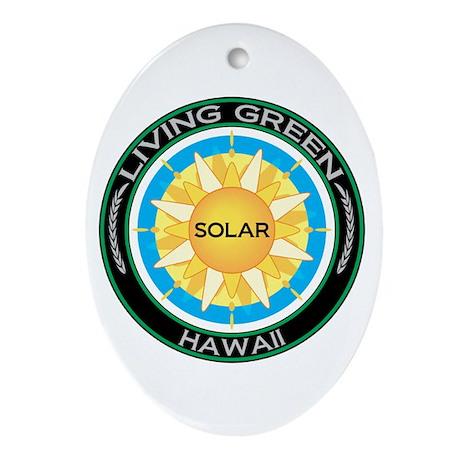 Living Green Hawaii Solar Energy Oval Ornament