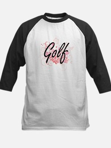 Golf Artistic Design with Flowers Baseball Jersey
