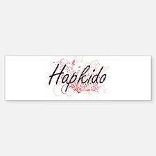 Hapkido Artistic Design with Flower Bumper Bumper Bumper Sticker