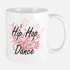 Hip Hop Dance Artistic Design with Flowers Mugs