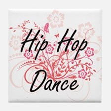 Hip Hop Dance Artistic Design with Fl Tile Coaster