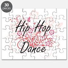 Hip Hop Dance Artistic Design with Flowers Puzzle