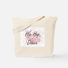 Hip Hop Dance Artistic Design with Flower Tote Bag