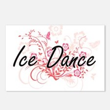 Ice Dance Artistic Design Postcards (Package of 8)