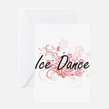 Ice Dance Artistic Design with Flow Greeting Cards
