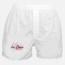 Ice Dance Artistic Design with Flower Boxer Shorts