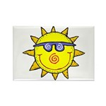 Happy Sun Rectangle Magnet (10 pack)