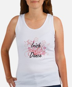Irish Dance Artistic Design with Flowers Tank Top