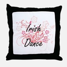 Irish Dance Artistic Design with Flow Throw Pillow